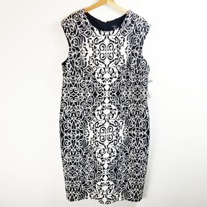 NWT R & K Size 18W Black White Print Shift